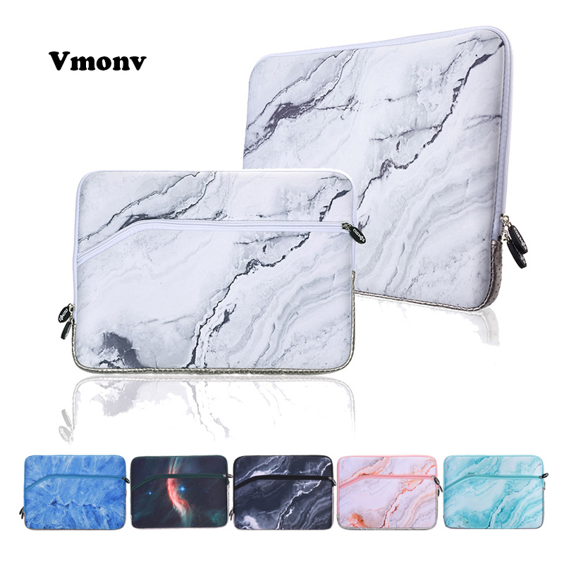 Vmonv 13 Inch Laptop Sleeve Bag Case for Macbook Air Retina 13 Neoprene Marble Pattern Liner Bag for Macbook Pro 13 Touch Bar