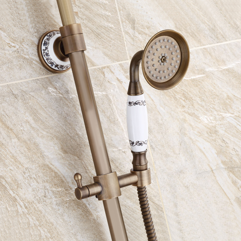 Free Shipping BAKALA antique bronze bathroom rainfall faucets and shower GZ6007