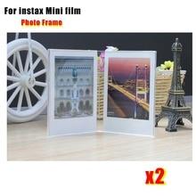 2 Pieces V- Shaped Acrylic Simple Photo Frame for Fujifilm Instax Mini Films (Mini 7s/ 8/9/25/70/90 , 3 inch Camera Film)