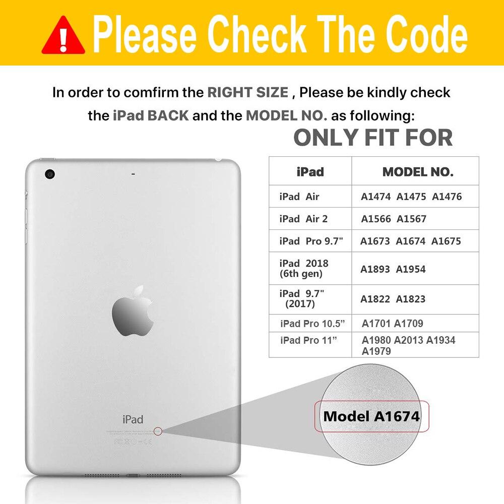 Étui pour iPad Pro 11 10.5 9.7 7 Couleurs Rétro-Éclairé 360 Rotatio Sans Fil Clavier Bluetooth Pour iPad 2018 2017 6th 5th Air 1 2 - 2