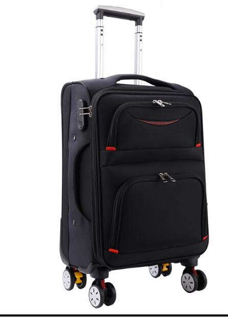 Travel Rolling Luggage Bag On Wheel Business Travel Luggage Suitcase Oxford Spinner suitcase Wheeled trolley bags for men vintage suitcase 20 26 pu leather travel suitcase scratch resistant rolling luggage bags suitcase with tsa lock
