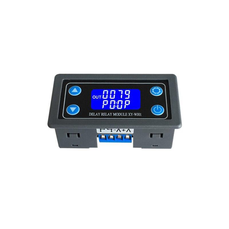 DC12V LED de Controle do Relé Módulo de Relé de Atraso de Tempo Digital Programável Temporizador Interruptor de Tempo Ciclo Gatilho com Caso para o Interior