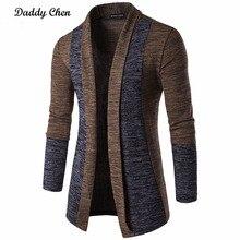 Casual Men Jacket Patchwork Long Sleeve 2018 Mens Fashion