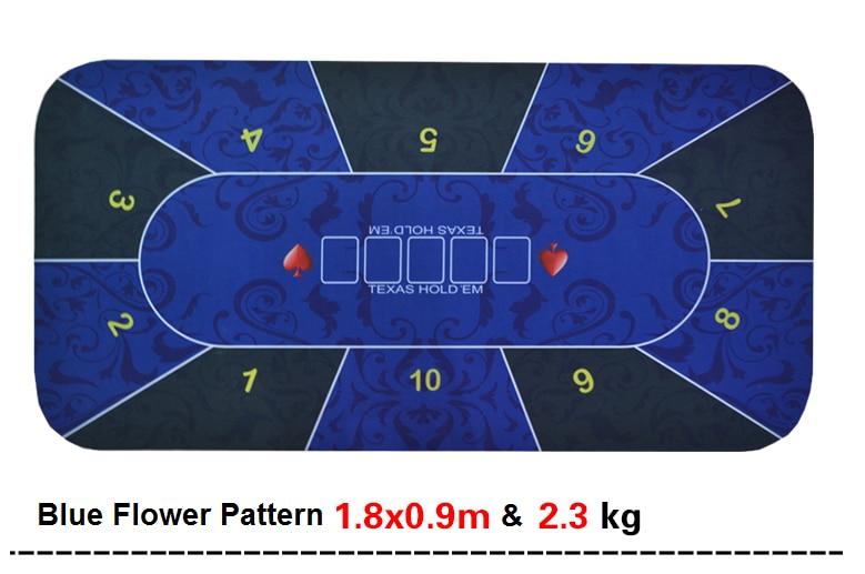 Texas Hold'em Poker Mat 1.8*0.9m flower pattern rubber gaming pad promise me texas