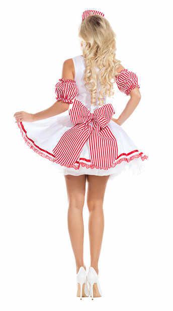 Sweet Lolita Seksi Bahasa Perancis Sissy Pembantu Gaun Manis Halloween Cosplay Kostum untuk Wanita