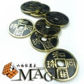 5pcs japanese chinese coins morgan coin size / close-up stage street floating magic tricks products toys