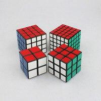 4 stks Puzzel Kubus Set 2x2x2, 3x3x3, 4x4x4, 5x5x5 Professionele Shengshou Speed Cube Cube Puzzel Speelgoed Magico Cubo