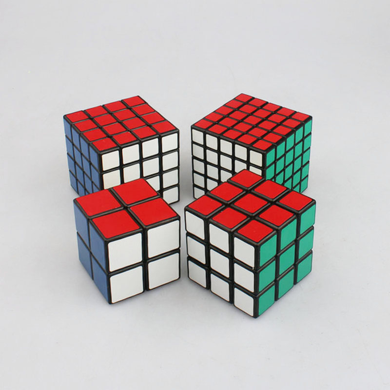 4pcs Magic Cube Set 2x2x2, 3x3x3, 4x4x4, 5x5x5 Professional Shengshou Speed Cube Rubik Puzzle Toys Magico Cubo new shengshou 10x10x10 magic cube professional pvc