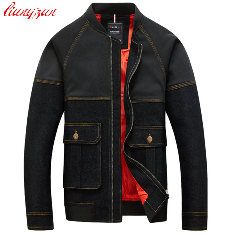 Buy Men Denim Jacket Coats Korean Style Casual Jacket Brand Design Plus Size M-5XL Slim Fit Cotton Windbreak F2256