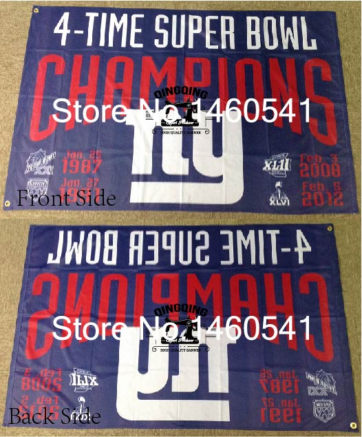 5611444e US $10.0  New York Giants 4 Time Super Bowl Champions Flag 3ft x 5ft  Polyester NFL Banner Flying Size No.4 144* 96cm QingQing Flag-in Flags,  Banners & ...