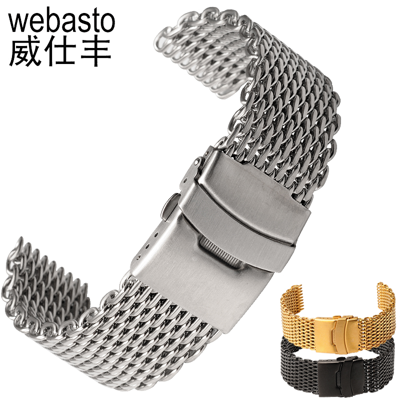 Webasto Watch Band Stainless Steel Straps Width 18 20 22 24mm Buckle Watch Strap Watchbands Free Shipping 18 mm 20 mm 22 mm stainless steel watch band with adjust tool free shipping