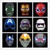 1pc Halloween Partei Liefert Leuchtende LED Maske Hero Cosplay Super hero