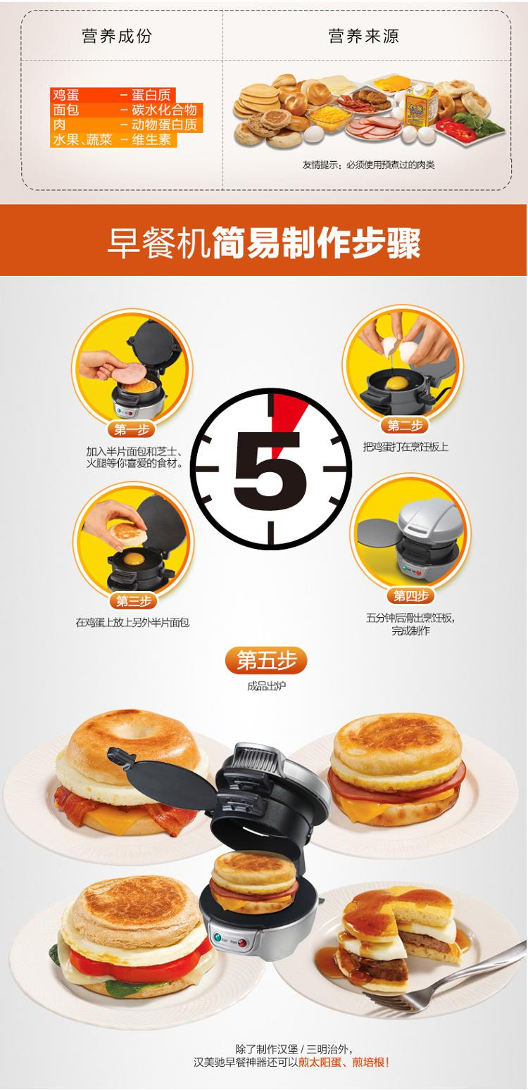 Hamilton Beach 25475-CN машина для завтрака машина для гамбургера машина для приготовления котлеты для гамбургера пресс для бургера машина для формования мяса 220 В для дома DIY