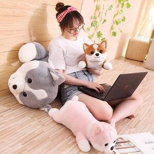 Image 2 - 55/95cm güzel Corgi köpek peluş oyuncak dolması yumuşak hayvan karikatür yastık çocuklar çocuklar için en iyi hediye