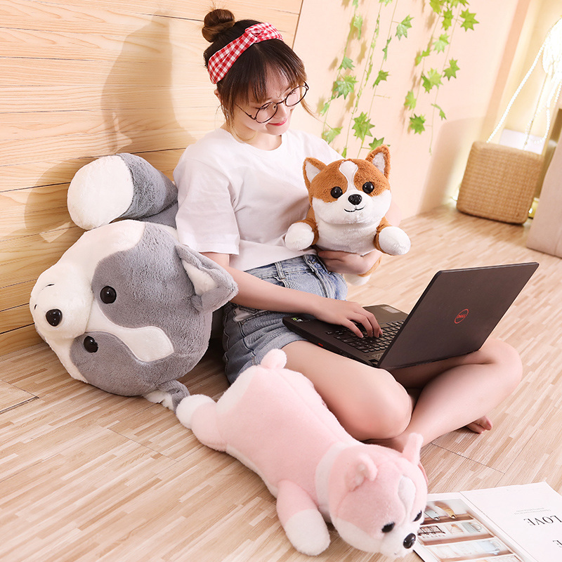 Image 2 - 60/80cm Lovely Corgi Dog Plush Toy Stuffed Soft Animal Cartoon Pillow Best Gift for Kids Children-in Stuffed & Plush Animals from Toys & Hobbies