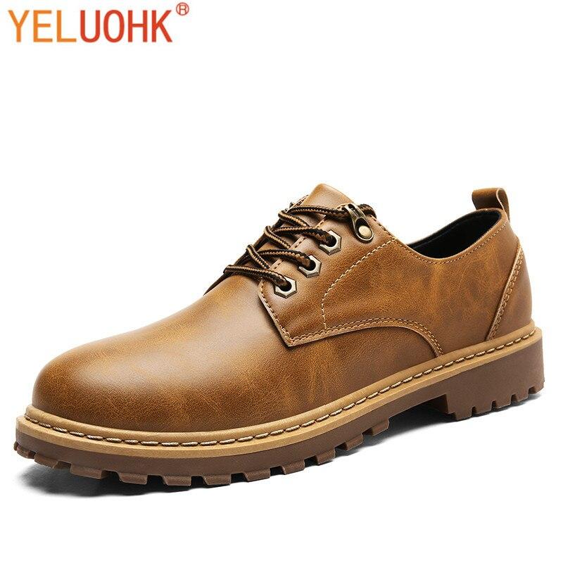 Winter Shoes Men Vintage Oxfords Shoes For Men Shoes Winter Casual Men Leather Shoes Pu