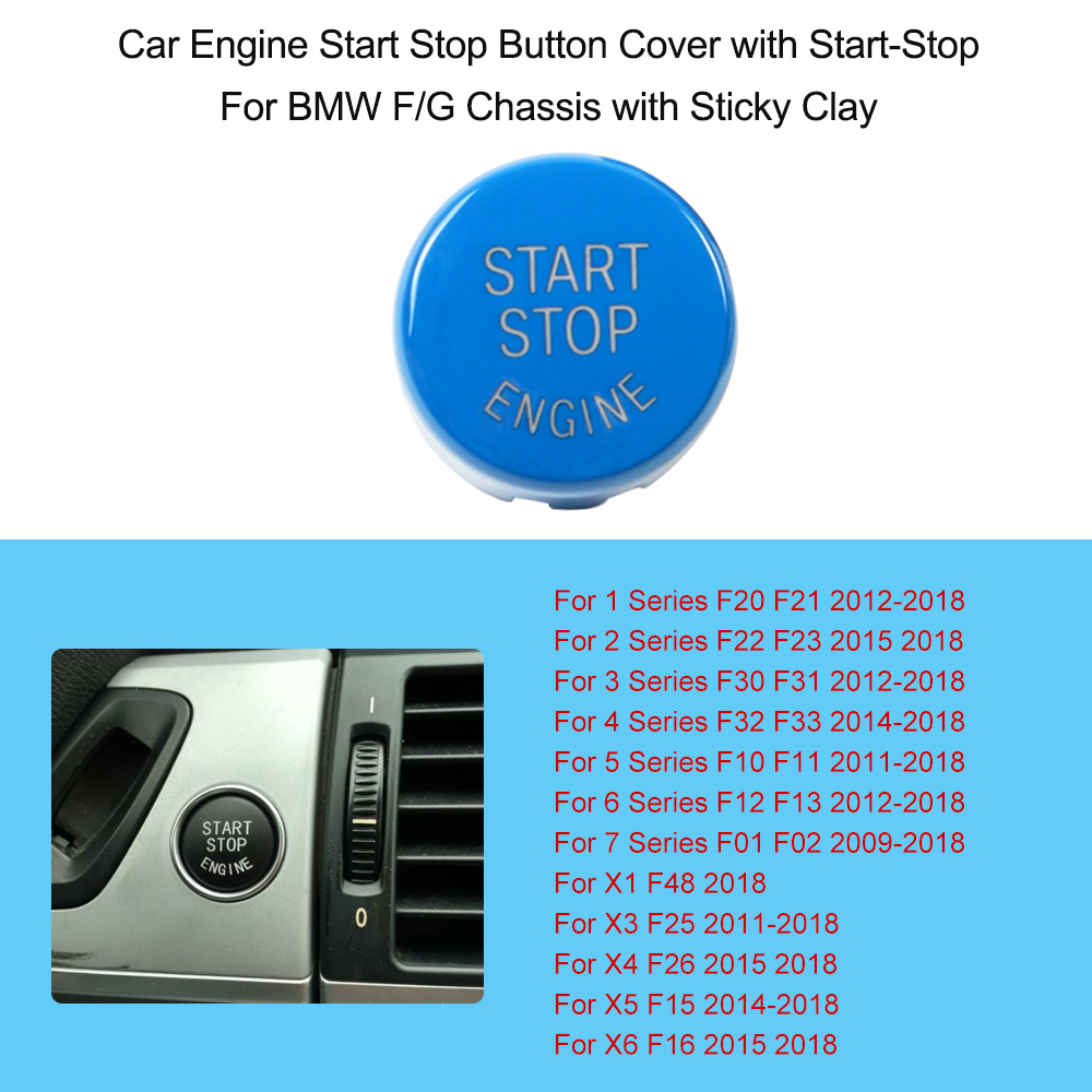 Car Start Stop Engine Button Replace Cover For BMW E/F/G Chassis ...
