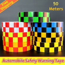 50mx5cm Motorcycle decoration Reflective Strips Car Stickers For Car-Styling Automobiles Safety Material Warning Adhesive Tape
