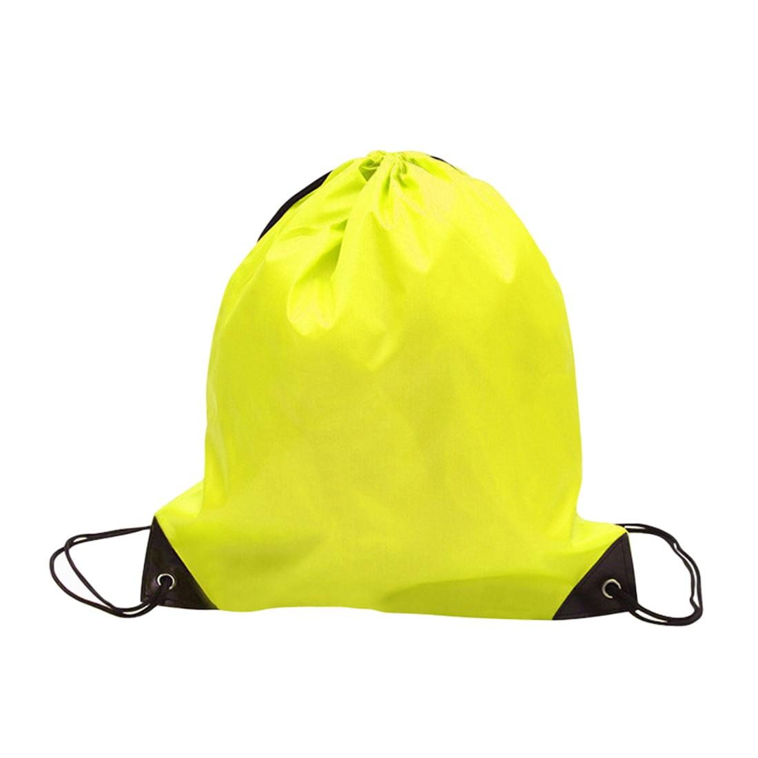 Unisex Drawstring Bag Backpack Waterproof Gym PE Bag Swim School Sports Dance