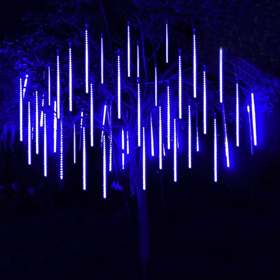 Thrisdar 30 cm 50 cm Meteor Dusche Regen LED Fee String Licht 8 Tropfen Regentropfen Schnee Fallen Licht Wasserdichte Cascading baum Licht