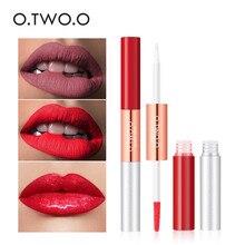 O.TWO.O 6 Colors Matte Lip Gloss Plump Lips Easy To Wear Long Lasting Lipstick Liquid Lipgloss Waterproof Makeup Cosmetics