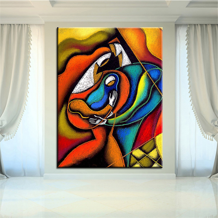 ⓪Impresión de gran tamaño pintura al óleo familia amorosa pintura ...