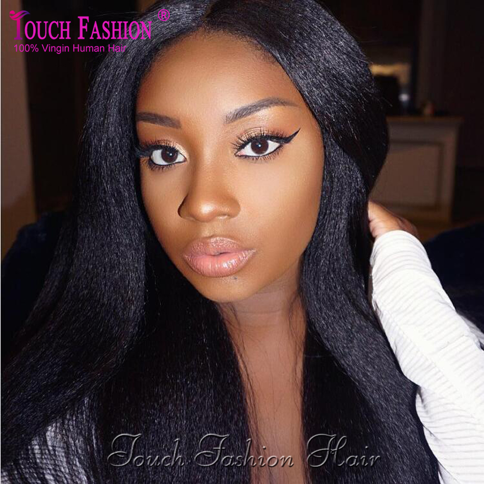Top Grade 100% Virgin Brazilian Human Hair Italian Yaki Straight Full Lace Wigs&Lace Front Wigs With Baby Hair Natural Hairline