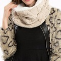 New Fashion autumn winter scarf women Warm Knit Neck Infinity Circle Ring Scarves  Shawl Wrap-J117