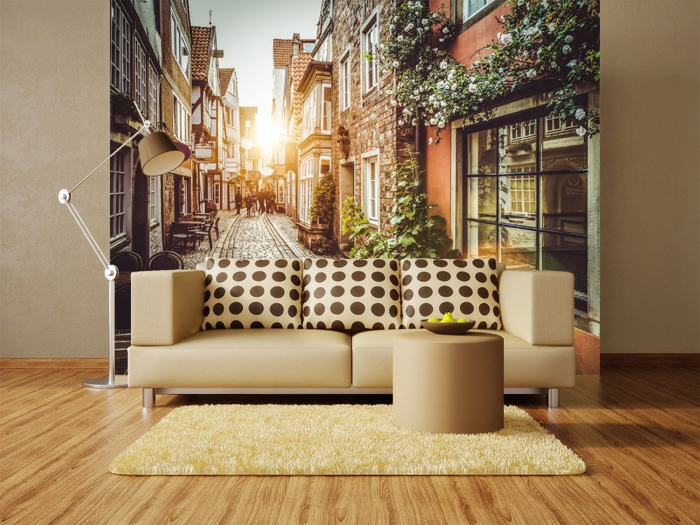 [Self-Adhesive] 3D Street Sunshine 180 Wall Paper Mural Wall Print Decal Wall Murals