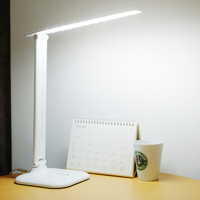 6W LED Stand Desk Lamp Modern Foldable Eye Care Touch Switch 3 Modes Dimmer Office Reading Light Led Table Lamps Plug in AC220