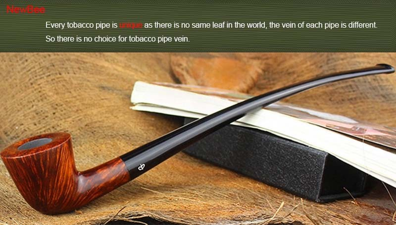 2 imported briar wood pipes handmade long stem pipes for reading flavored tobacco pipes
