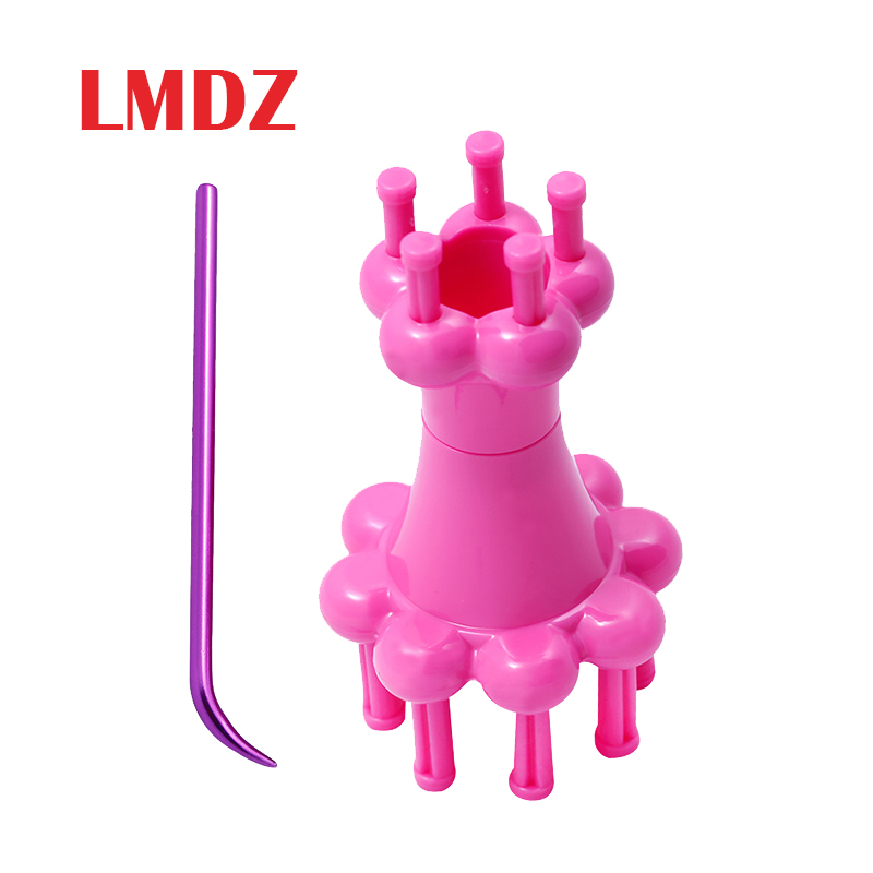 LMDZ Plastic Double Head French Yarn Wool Rope Knit Knitter Knitting Doll Craft Spool Loom With Crochet Hook Knitter Loom Maker