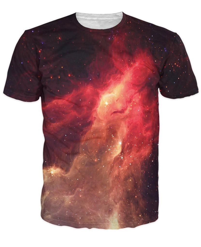 Design t shirt galaxy - Aliexpress Com Buy All Over Print Crimson Nebula T Shirt Galaxy Space 3d Print Funny Design Summrt T Shirt Women Men Short Sleeve From Reliable T Shirt