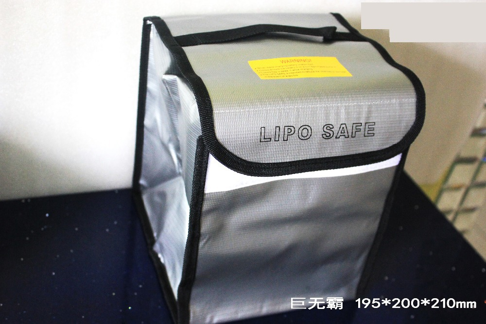 ФОТО 195*200*210mm LiPo Battery Safety Guard Accommodate 9Pcs Big Battery  fireproof and explosion-proof bag HM RC Fireproof