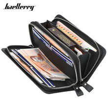 Baellerry Brand Men's Wristlet Long Wallet Purse High Quality Cell Phone Card Holder Clutch Wallets Men Large Capacity Man Purse 2018 baellerry quality guarantee clutch bag hand bags new simple fashion pu wallet for men brand purse card holder wallet purse