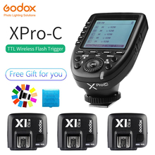 GODOX XPro-C E-TTL 2.4G Wireless High Speed Sync X system Trigger + 3x Godox X1R-C Receiver For Canon EOS Cameras