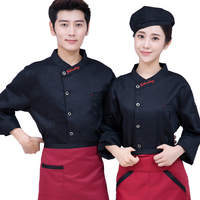 Chef's Clothes Long Sleeves Thickening Food Clothing Restaurant Kitchen Men's Chef's Work Clothes Chef Jacket Women