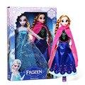 Disney Frozen Toys 29cm Princess Elsa Anna Barbie Dolls Kids Cartoon Toys For Children Girl Doll With Box
