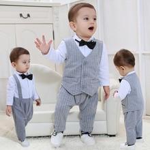 Baby Boy Romper Clothing Child Newborn Clothes Christmas Costume Gentleman Ropa Recien Nacido Overalls Rompers Bebes