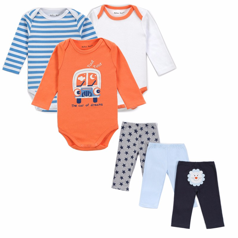 Mother Nest Brand 6 PCS Set Baby Girl Clothing Set Long Sleeves Baby Wear Spring Autumn Casual 100% Cotton Set Shirts+Trousers (2)