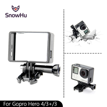 Free shipping Gopro Hero 4 3 3+ Standard Protective Frame + Base for Go Pro plus frame Mount GP71