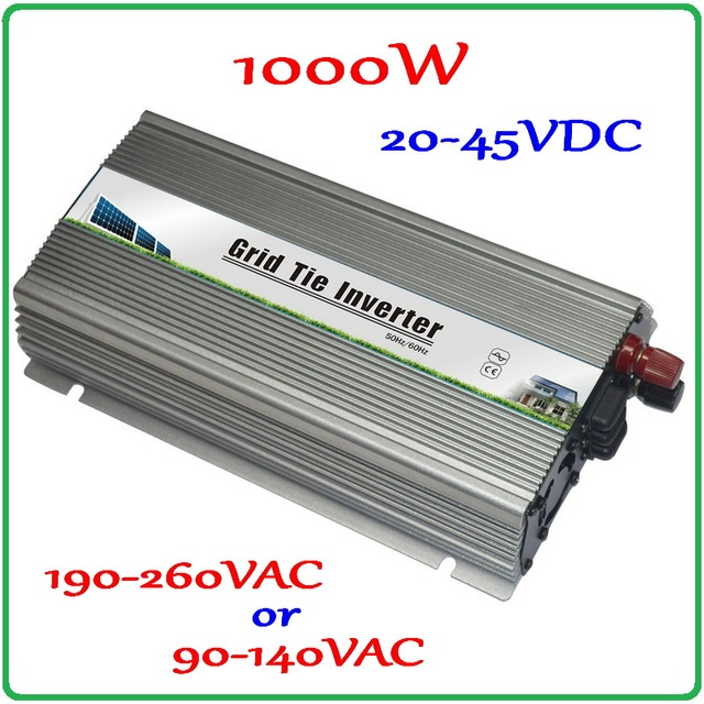 1000W 30V 60cells/36V 72cells MPPT Grid tie inverter 20-45VDC to AC190-260V or 90-140V on grid tie micro inverter 1000W