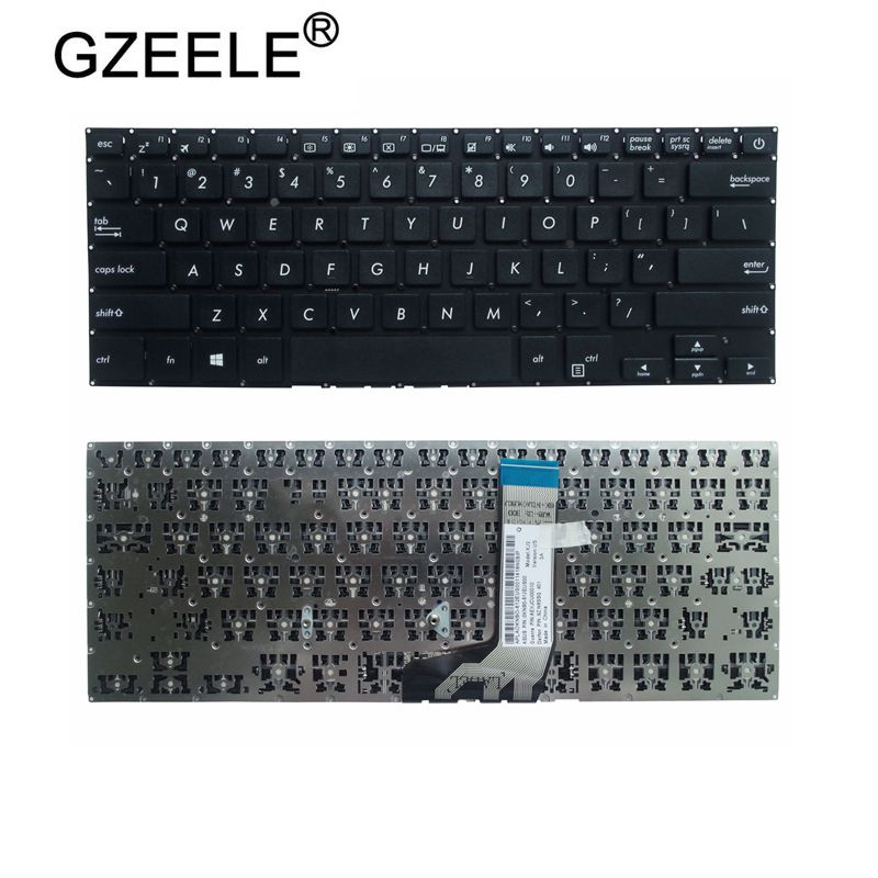 GZEELE US Keyboard For ASUS X411 X411U X411UQ X411SC X411UV X411UA X411UN X411UF X406 S4200 UA UN UQ English Version