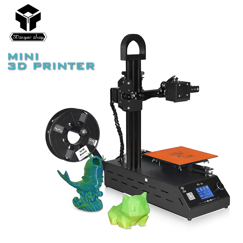 цена на TT-1s mini Windows 3D printer Fully Assembled supplied with 0.3kg consumables in random colors printing size 150*150*200mm