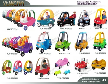 kids plastic toy car,amusement playground toy rider game,baby play car nursery schools plastic small car