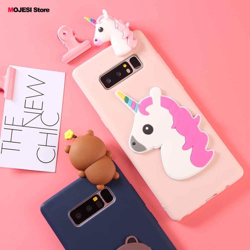 Силиконовый матовый Mofi ультра тонкий чехол для samsung Galaxy Note 8 6,3 дюймов милая игрушка панда чехол маленький пони Медведь Мягкий чехол
