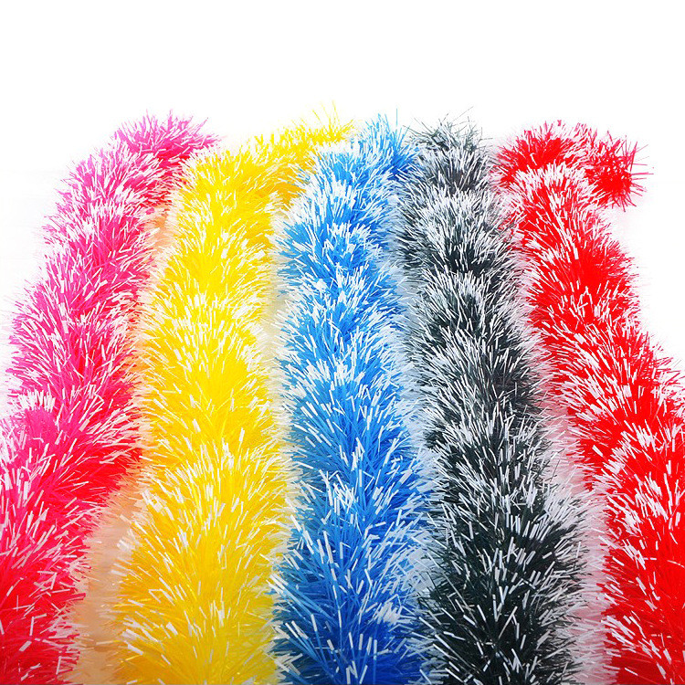Christmas Party Xmas Tree Ornaments 2m Tinsel Hanging Decorations 5 Colors Xmas Party Hanging color bar for outdoor shop