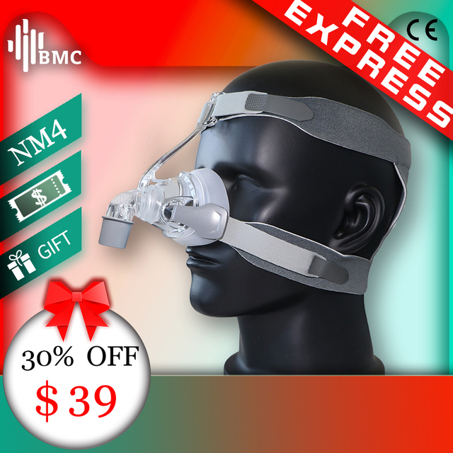 BMC NM4 Nasal Mask CPAP Mask with Headgear and SML 3 Size Silicon Cushion for CPAP Auto CPAP Sleep Snoring Apnea Health & Beauty