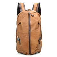 JMD Genuine Cow Leather Men's Laptop Backpack For Student School Extra Large Backpacks $113.77