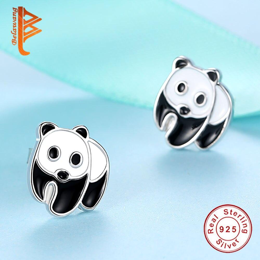 Belawang 2017 trendy cute animal panda earrings for women girls belawang 2017 trendy cute animal panda earrings for women girls 925 sterling silver chinese symbol stud earrings fashion jewelry in stud earrings from biocorpaavc